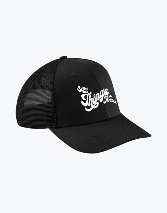 Organic Trucker Cap Black