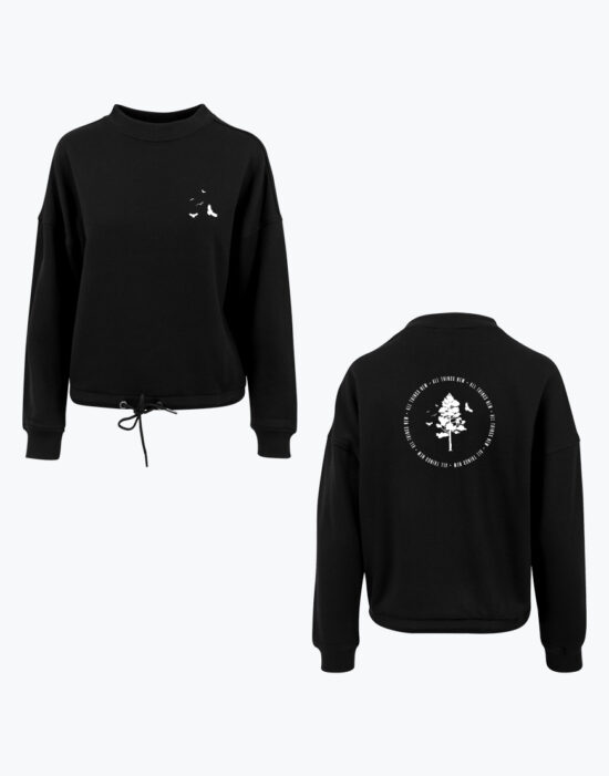 Birds Oversized Crop Sweat